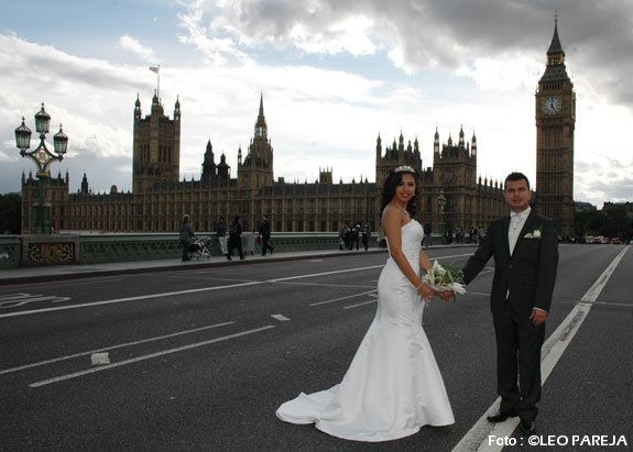 Yensi Ocampo  y Andrés Peña contraen boda