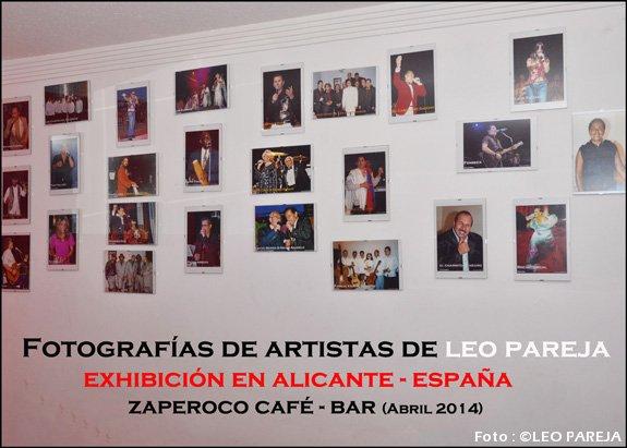Leo Pareja exhibe serie de fotografías de artistas en España