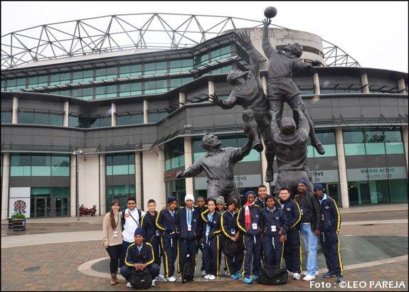 Delegación juvenil colombiana de rugby visita Inglaterra