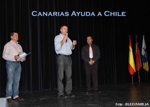Los canarios se solidarizaron con Chile