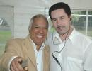 Leo con Luis Felipe Gonzalez
