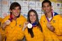 Carlos Mario Oquendo, Bronce, Mariana Pajón, Oro y Oscar Muñoz, Bronce, medallistas