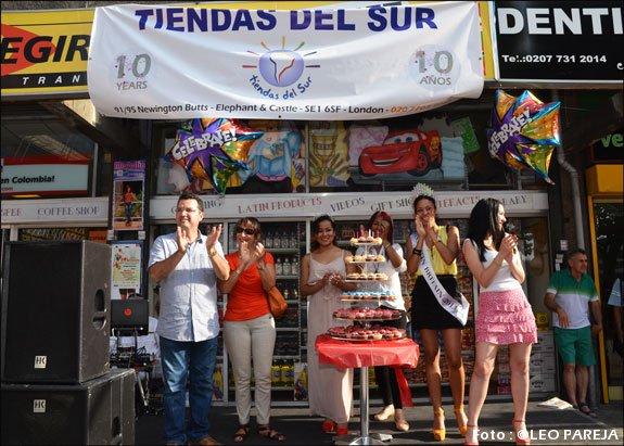 Tiendas del Sur festejó con fiesta sus 10 años
