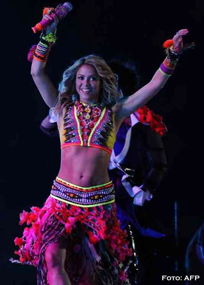 Shakira brilló en clausura del Mundial