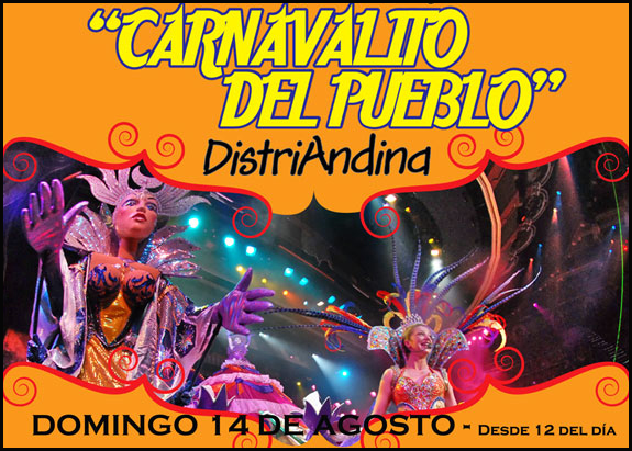 Distri Andina celebrará Carnavalito el 14 de Agosto