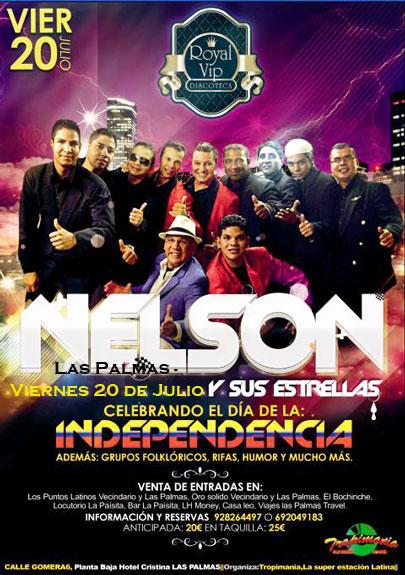 El 20 de Julio fiesta con Nelson y sus Estrellas