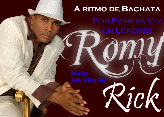 El bachatero Romy Rick por primera vez en Londres