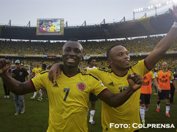 Colombia a un paso del Mundial de Brasil 2014