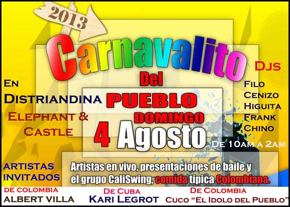 Carnavalito: Domingo 4 de Agosto en Elephant & Castle