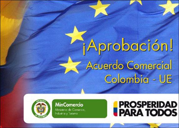 Entra en vigor Acuerdo comercial entre UE y Colombia