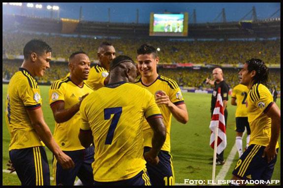 Colombia a un punto del Mundial de Brasil 2014