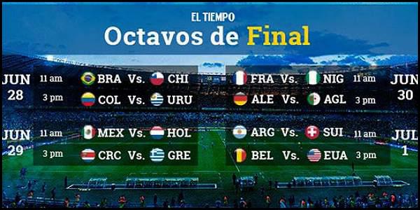 Los latinos, protagonistas en Octavos de Final de Brasil