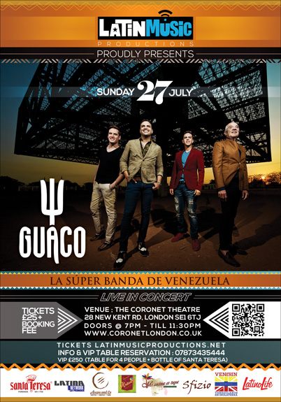 """GUACO: """"La Super Banda de Venezuela"""" en Londres"""