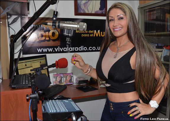 La cantante Mily Jaramillo tras la conquista de Colombia