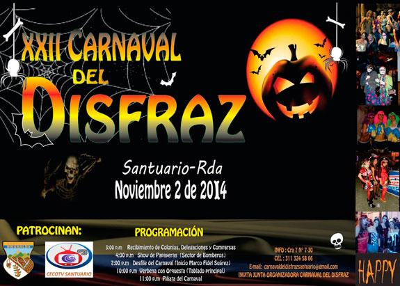 Con carnaval de disfraces  y artistas, Santuario vivirá fiestas aniversarias