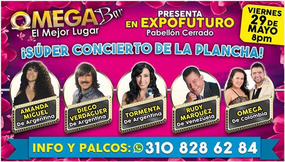 Mayo 29: Expofuturo: Super Concierto de baladistas en Pereira