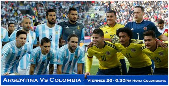 Así quedaron Los Cuartos de Final de La Copa América: Colombia vs Argentina
