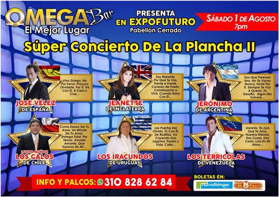 Agosto 1 – Concierto Plancha 2: 6 artistas internacionales en Pereira