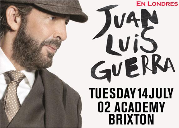 Juan Luis Guerra en Londres: 14 de Julio – 02 Brixton Academy