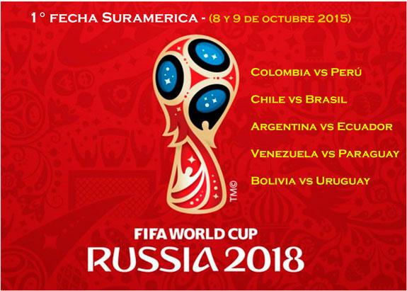 Calendario Eliminatorias Suramericanas al Mundial de Rusia 2018