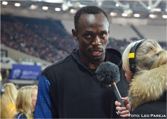 Usain Bolt 'vuela en Londres' tras su regreso en los 100 metros