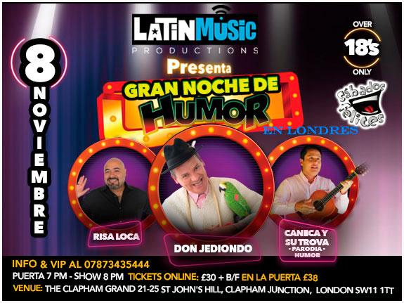 Nov. 8: Londres vivirá Noche de Humor con los mejores de Colombia