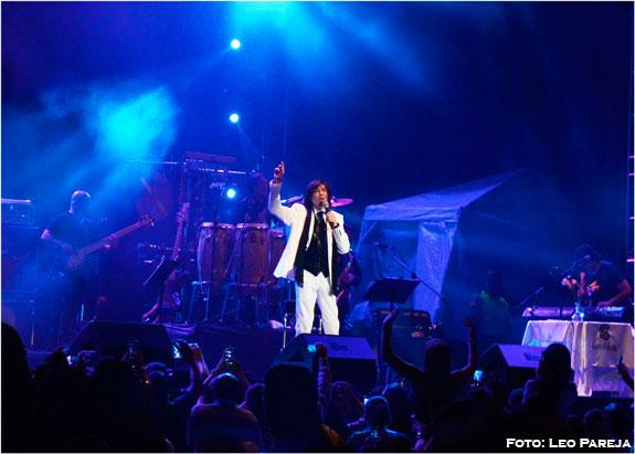 El cantante español Camilo Sesto a su paso por Pereira