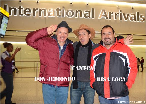 Los humoristas Don Jediondo, Caneca y Risaloca en Londres