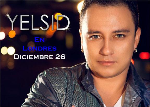 Dic-26: Yelsid, cantante de género urbano debutará en Londres