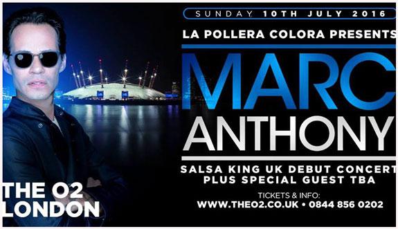 Domingo 10 de Julio: El salsero Marc Anthony debutará en el O2 Arena de Londres