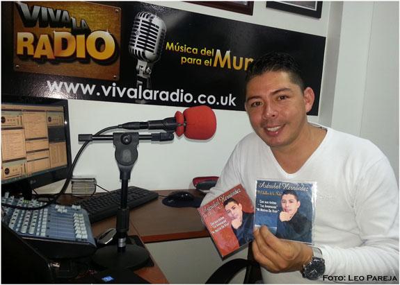 El cantante Asdrúbal Hernández promueve nuevo trabajo musical popular