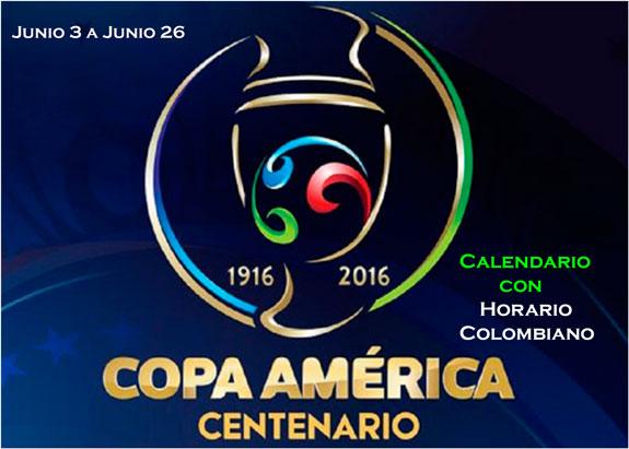 Copa América Centenario, calendario de partidos y horario colombiano