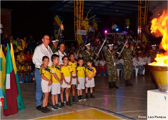 La fiesta deportiva de Los Intercolegiados departamentales se vive en Santuario