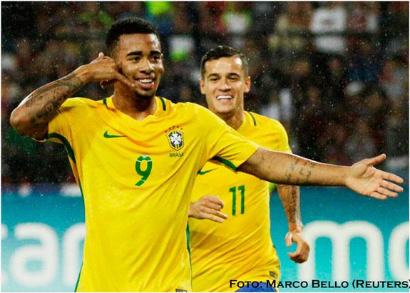 Brasil asume liderato en las eliminatorias rumbo al Mundial Rusia 2018