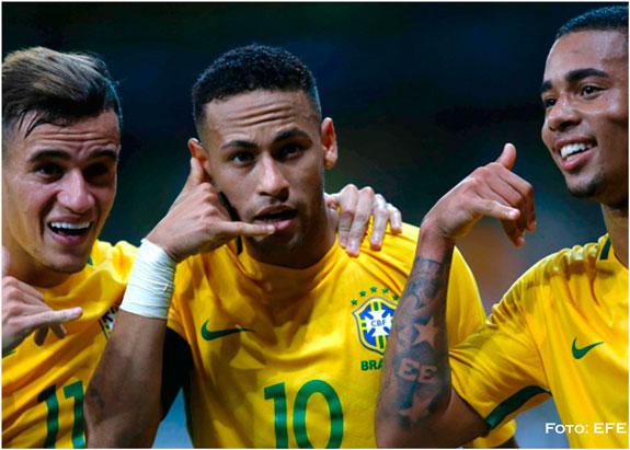 Brasil golea a Argentina y sigue líder en eliminatorias a Rusia 2018