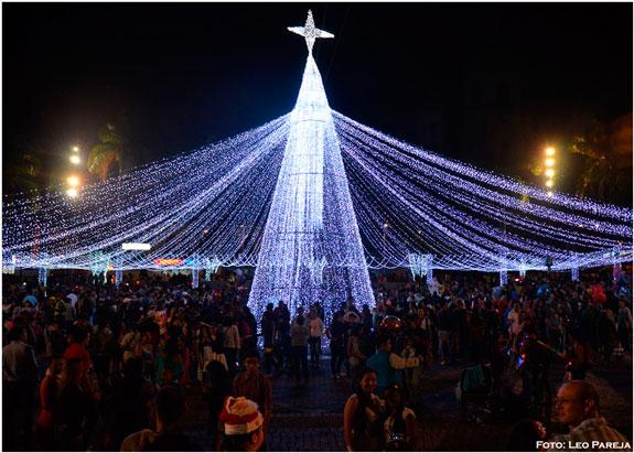 Pereira con la 'Noche de las Velitas' vive y disfruta del alumbrado navideño