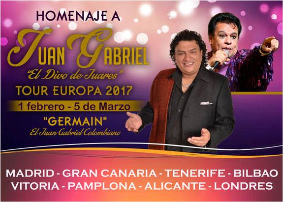 Germaín 'El Juan Gabriel Colombiano' inicia 2017 con Tercera Gira Europea