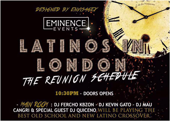 Latinos in London: The Reunion (Friday 14th of April at K-Ché VIP Night Club)