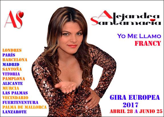 Alejandra Santamaría (Francy de Yo Me Llamo) iniciará segunda gira europea