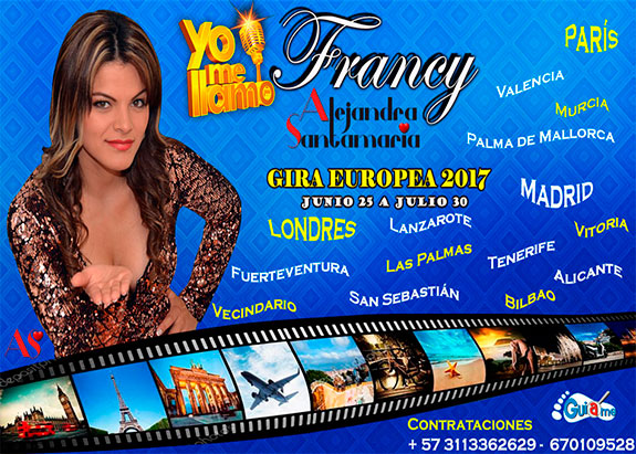 Tras su éxito, Alejandra Santamaría (Francy de Yo Me Llamo) amplía gira europea