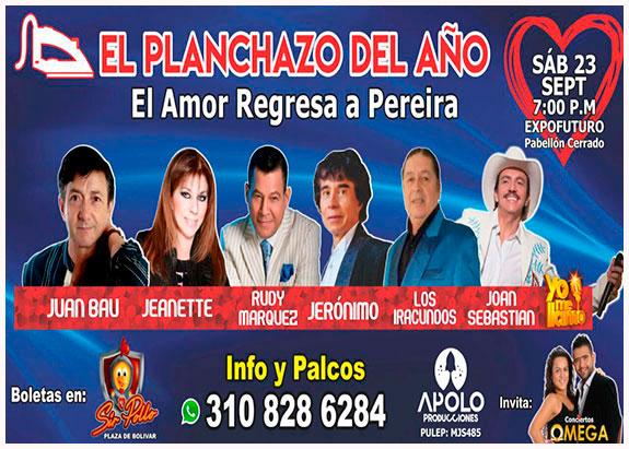 En Pereira celebrarán con artistas gran concierto romántico en Amor y Amistad