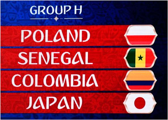 Calendario Rusia 2018: Colombia en Grupo H junto a Japón, Polonia y Senegal