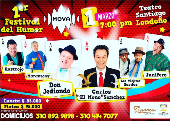 En Pereira: Don Jediondo y 'El Mono' Sánchez en El Primer Festival del Humor