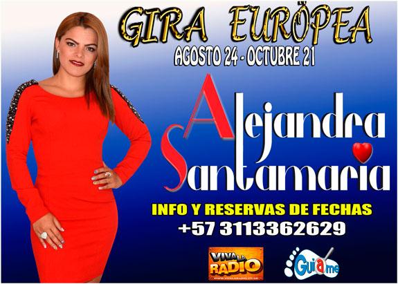 3ra Gira: La cantante colombiana Alejandra Santamaría regresa a Europa